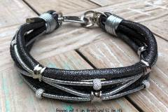 Hundehalsband-Glitzer-Strass-4-cm-Breit-52-cm-HU-