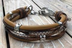 Hundehalsband-Leder-Mix-in-Cognac-Perlmutt-1