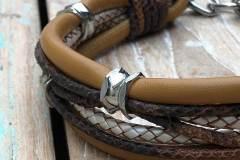 Hundehalsband-Leder-Mix-in-Cognac-Perlmutt-2