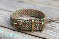 Hundehalsband-paracord-3-cm-breit-Melone-2