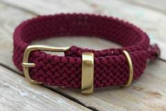 Hundehalsband_Paracord_-burgundy_3_cm_breit_verstellbar_1
