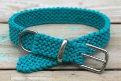 Hundehalsband_Paracord_Türkis_Perlmuster_Macramee_Hippie_Boho_1