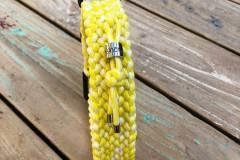 Paracord-Hundehalsband-3-cm-breit-Gelb-Weiß-und-stufenlos-verstellbar_4