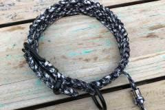 Paracord-Hundehalsband-3-cm-breit-Schwarz-Weiß