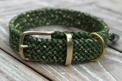 hundehalsband_3_cm_breit_grün_gold_Metallic-Glitter-Fern-Green-Gold-Tracer-X_1