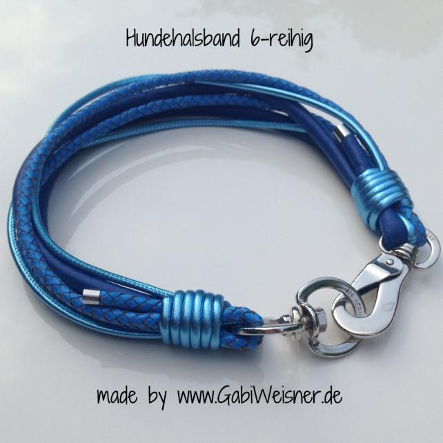 Hundehalsband ganz in Blau
