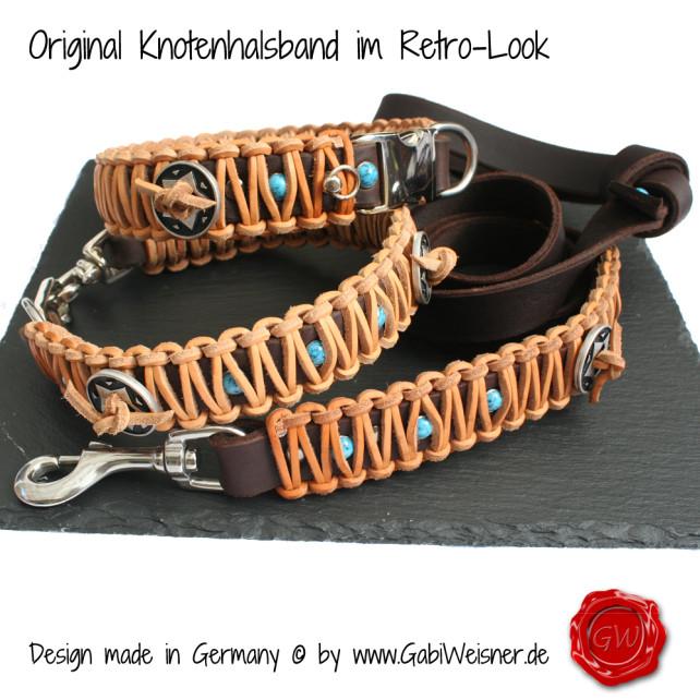 Knotenhalsband im Western Look mit Brummelhaken