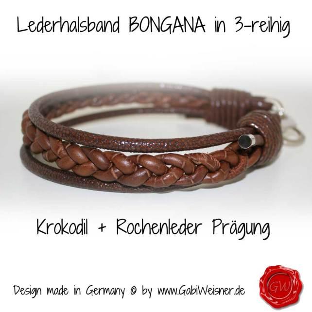 Lederhalsband BONGANA