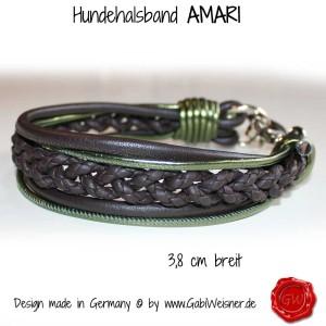 Hundehalsband-Ledermix-AMARI-braun-olive-1