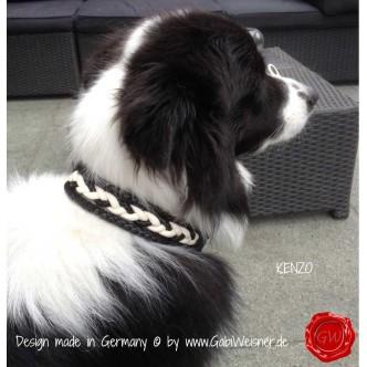 Hundehalsband-Ledermix-KENZO