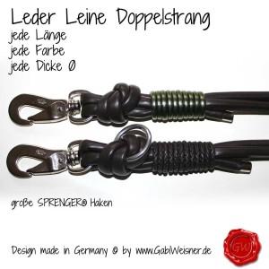 Leder-Leine-Doppelstrang-braun-olive-1