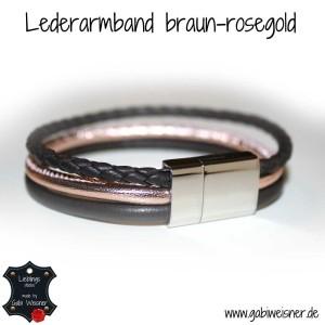 Lederarmband-braun-rosegold-