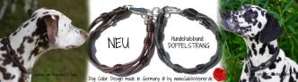 Hundehalsband Doppelstrang