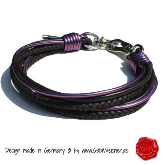 Hundehalsband-Leder-Mix