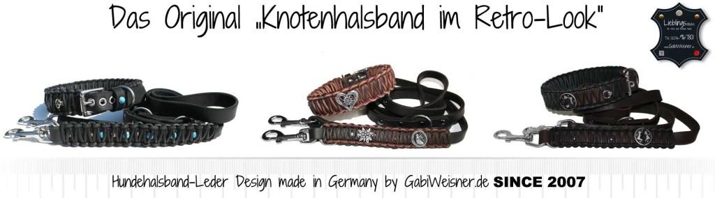 Original Knotenhalsband im Retro-Look
