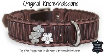 Hundehalsband Leder 3,5 cm breit