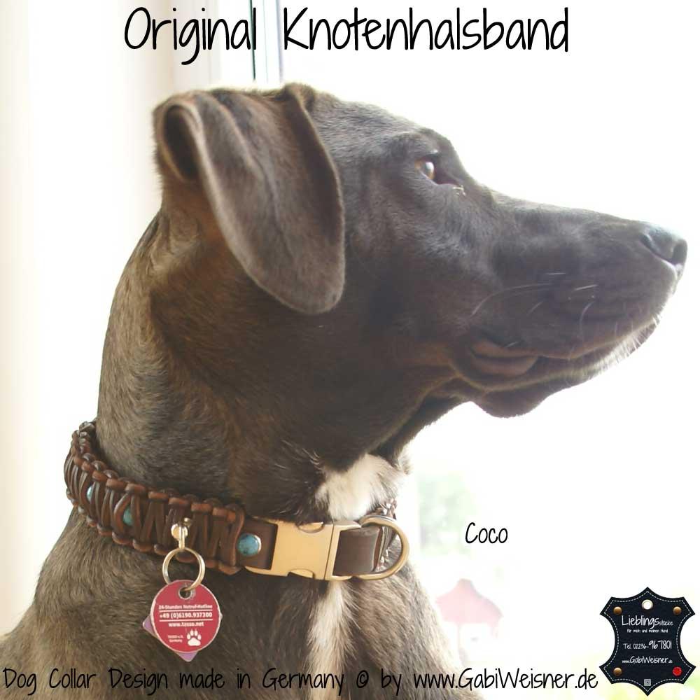 Indianer Halsband 3 cm breit für kleine und große Hunde.