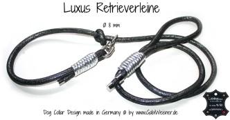 Luxus Retrieverleine Ø 8 mm Luxus für den Hundehalter