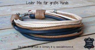 Hundehalsband Leder Mix große Hunde