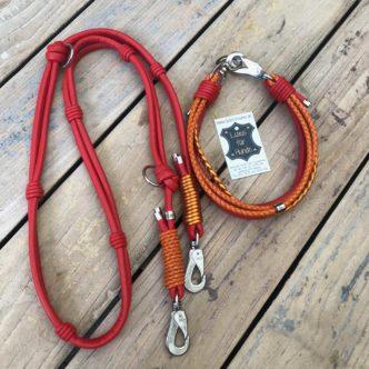 Halsband und Leine für große Hunde, im SET am SCHÖNSTEN