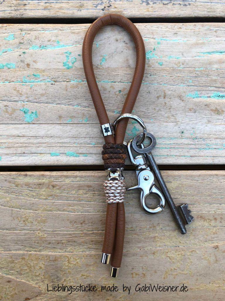 Luxus Schlüsselband Leder