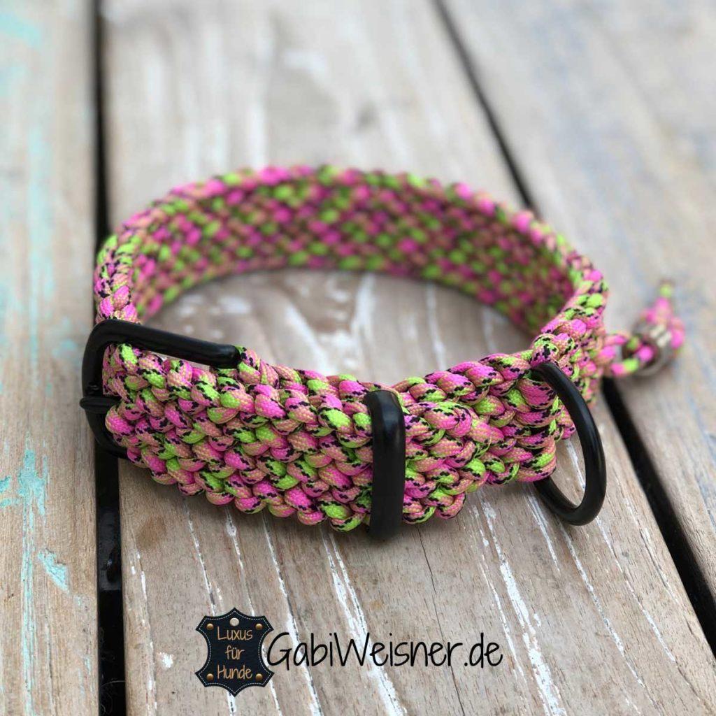 Luxus Hundehalsband stufenlos verstellbar 34 bis 44 cm Halsumfang