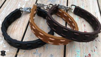 Lange Halsbänder für große Hunde 2,5 cm breit Farbe nach Wunsch