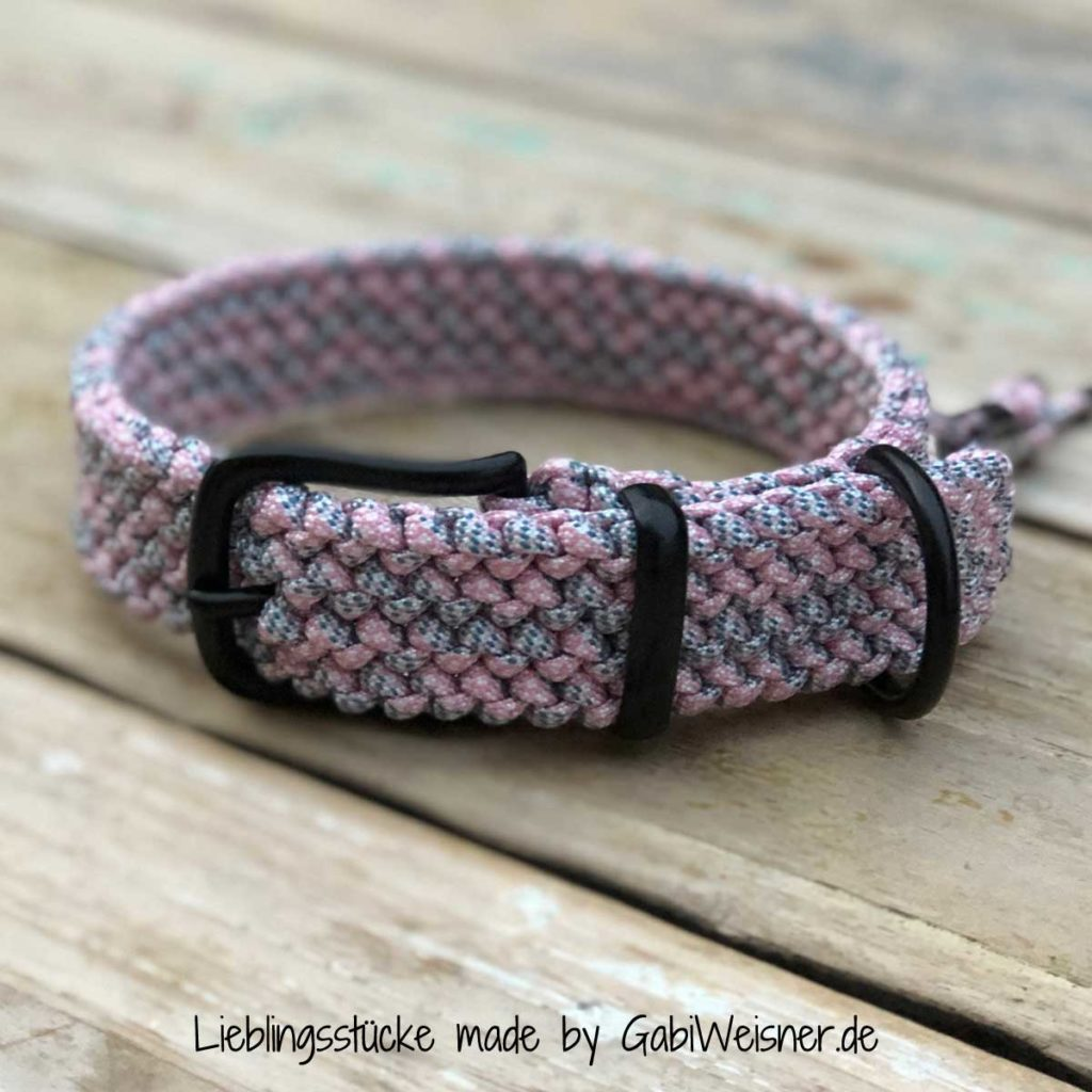 Hundehalsband stufenlos verstellbar 3 cm breit neue Farben Paracord