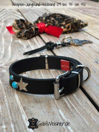 Welpen-Junghund Halsband aus Leder