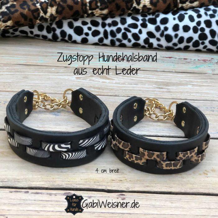 Hundehalsbänder im Leopard-Look und im Zebra-Look