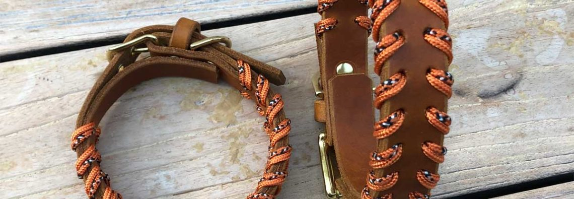 Hundehalsbänder aus Leder im Partnerlook